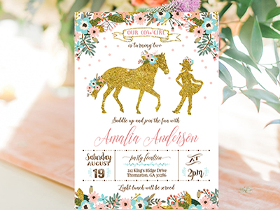 Birthday Invitation Printable Editable