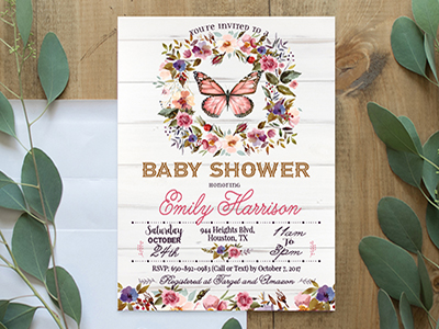 Baby Shower Invite Editable Printable Cardcrisp
