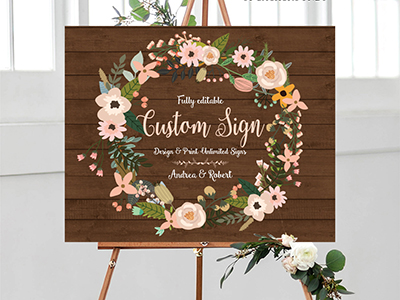 Baby Shower Sign Editable Printable